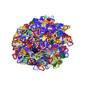 Image 2 - 600 개/몫 여러 가지 빛깔의 스파클링 러브 하트 웨딩 파티 축제 색종이 테이블 장식 장식 용품 발렌타인 데이