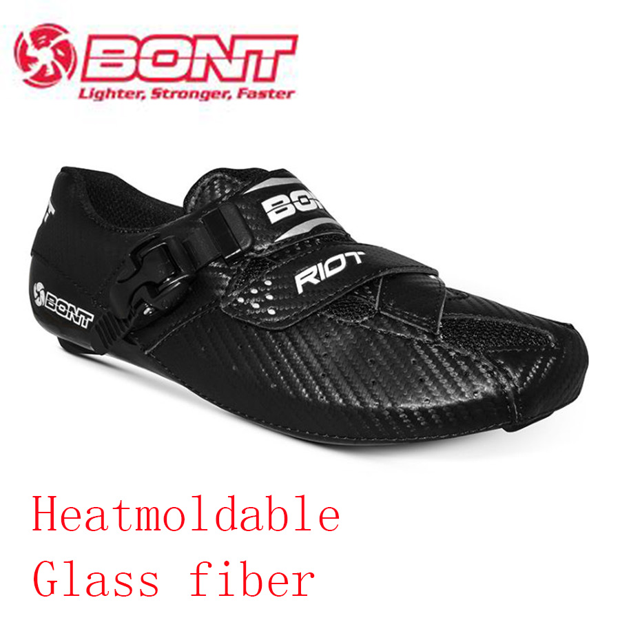 Original Bont Heatmoldable Glass Fiber Cycling Shoes Outdoor Sports Road Bike Bicycle Sneakers Breathable Riding Boot