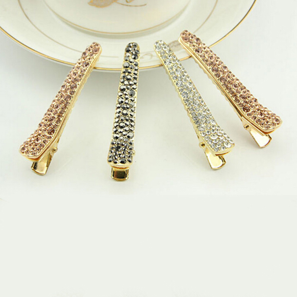 New Women Hair Clips Alloy Crystal Hairpins Barrettes Girls Elegant Hairgrips Hair Accessories Rhinestone Hair Styling Tools in Women 39 s Hair Accessories from Apparel Accessories