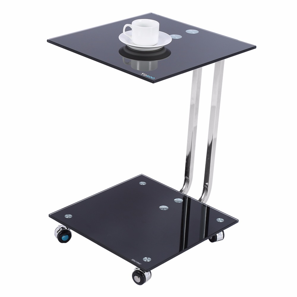 Sofa Side Table Picture More Detailed Picture About Black Glass Laptop Stand Side Desk Sofa
