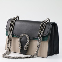 Fashion Chain Casual Shoulder Bag Messenger Bag Retro Hit Color Women Bag Handbag Ladies Flap Motorcycle