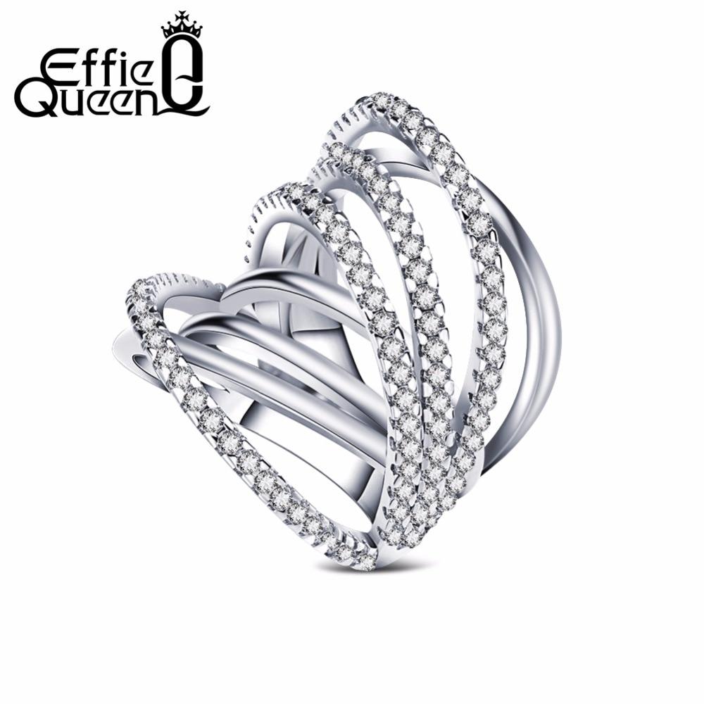 Effie Queen Newest Design Fashion Jewelry Shiny Cz Vintage Luxury