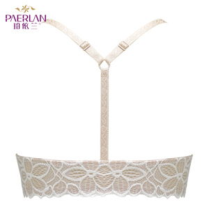 Image 2 - PAERLAN Front Closure Wire Free Lace Floral hit color Seamless bra small chest Push Up Y shaped sexy back beauty underwear Women