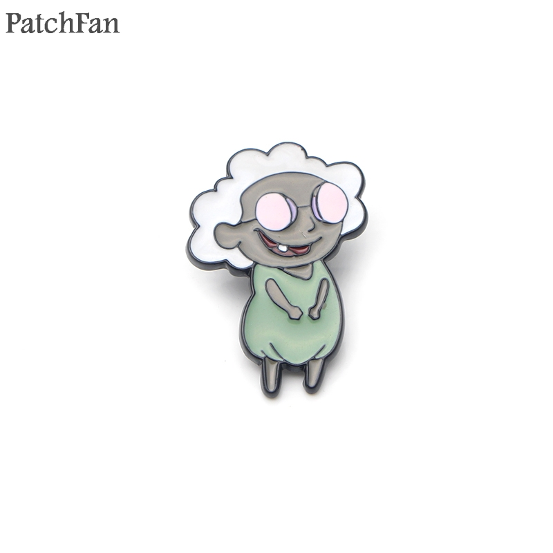 ed7212550c94 Patchfan little Muriel cartoon Zinc pins para backpack clothes tie medal  for shirt insignia badges brooches for men women A0979 ~ Super Deal July  2019