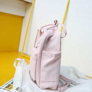 Image 5 - Kobiety Canvas plecaki szkolne torby dla nastolatków dziewczyny czarne urocze plecaki szkolne torby podróżne na ramię torby na książki Famale plecak