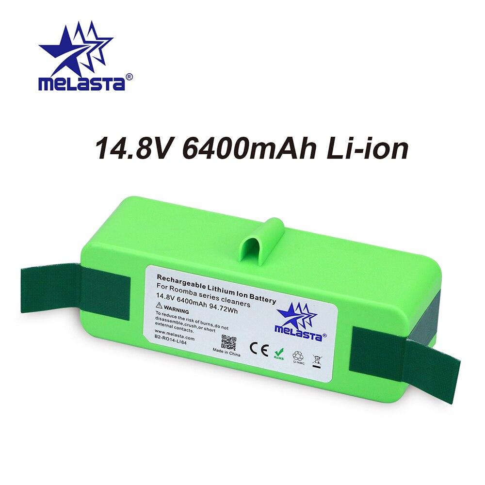 6.4Ah 14,8 V Li-Ion Batterie mit Marke Zellen für iRobot Roomba 500 600 700 800 Serie 510 530 550 560 650 770 780 790 870 880