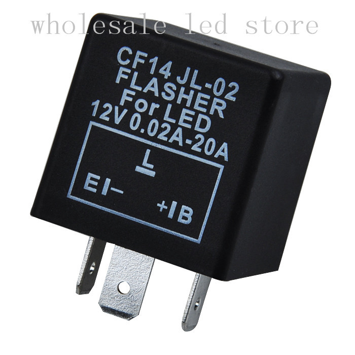 2Pcs Electronic Motorcycle Car Flasher Relay Fix LED Hyper Flash Fast Signal CF14