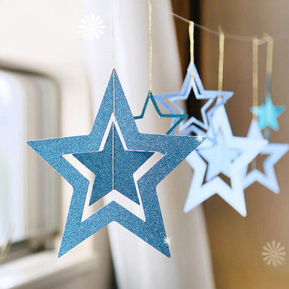 Decorador de arboles de navidad 187 home design 2017 - 7 Unids Apertura Festivales Aniversario Fiesta De Navidad Del Favor Est Reo Hueco Estrella Decorativa Ventana Polvo