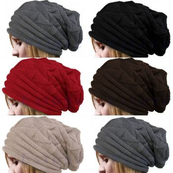 Newest Men Women Knit Oversize Baggy Slouchy Beanie Warm Winter Hat 1