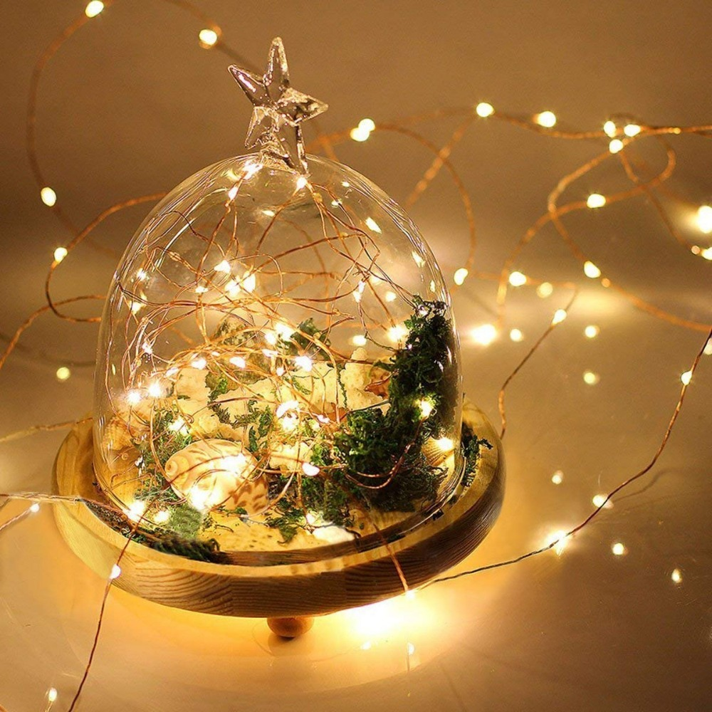 LED String Lights 2-10m LED Battery For Xmas Garland Party Wedding Decoration Christmas Flasher Fairy Lights Outdoor Waterproof