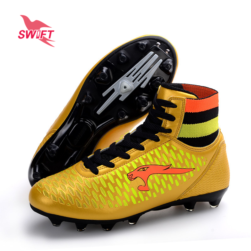 Professional High Ankle Kids FG Soccer Shoes New Children Football Boots Cheap Boys Futsal Cleats Top