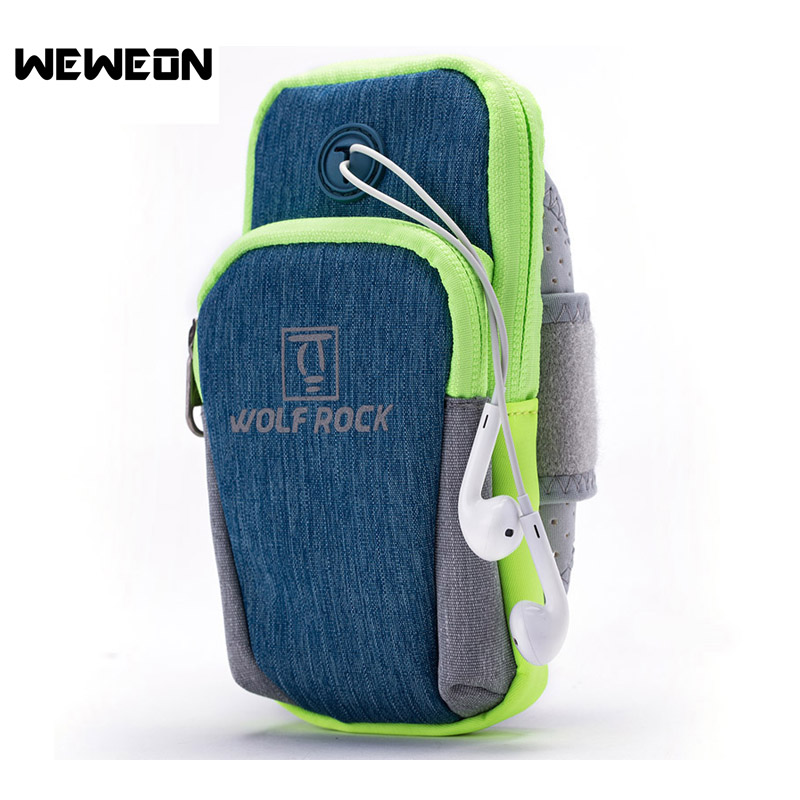 Unisex Ultra Light Running Arm Bag Waterproof Nylon Sports Running Bag for Cycling Jogging Arm Bag Wrist Bag for Phone