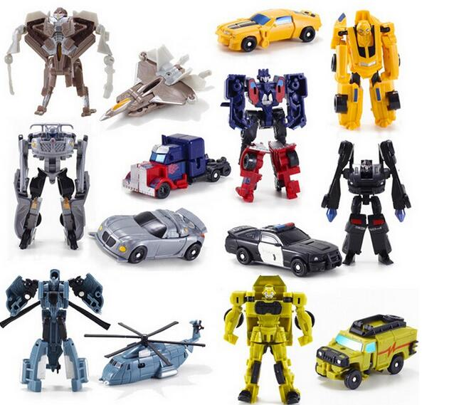 2016 Transformation 7pcs lot Kids Classic Robot Cars Toys For Children Action Toy Figures
