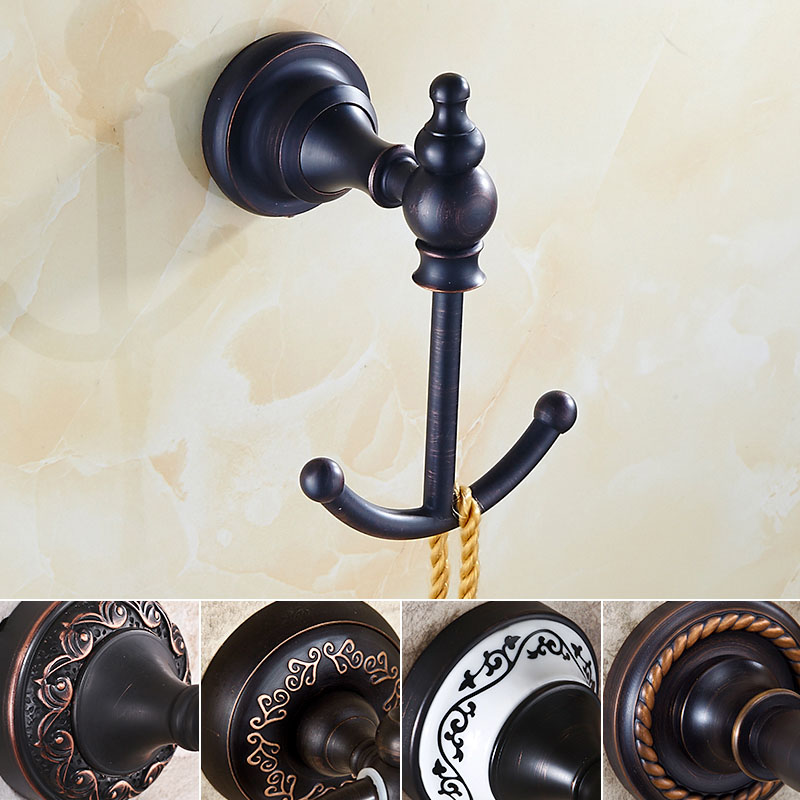Free Shipping Oil Rubbed Bronze Multiple Types Bathroom Clothes Hooks Towel Hangers