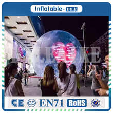 Free Shipping 3m Diameter inflatable moon ball Artificial simulation with LED light, air pump, use for Party,festival