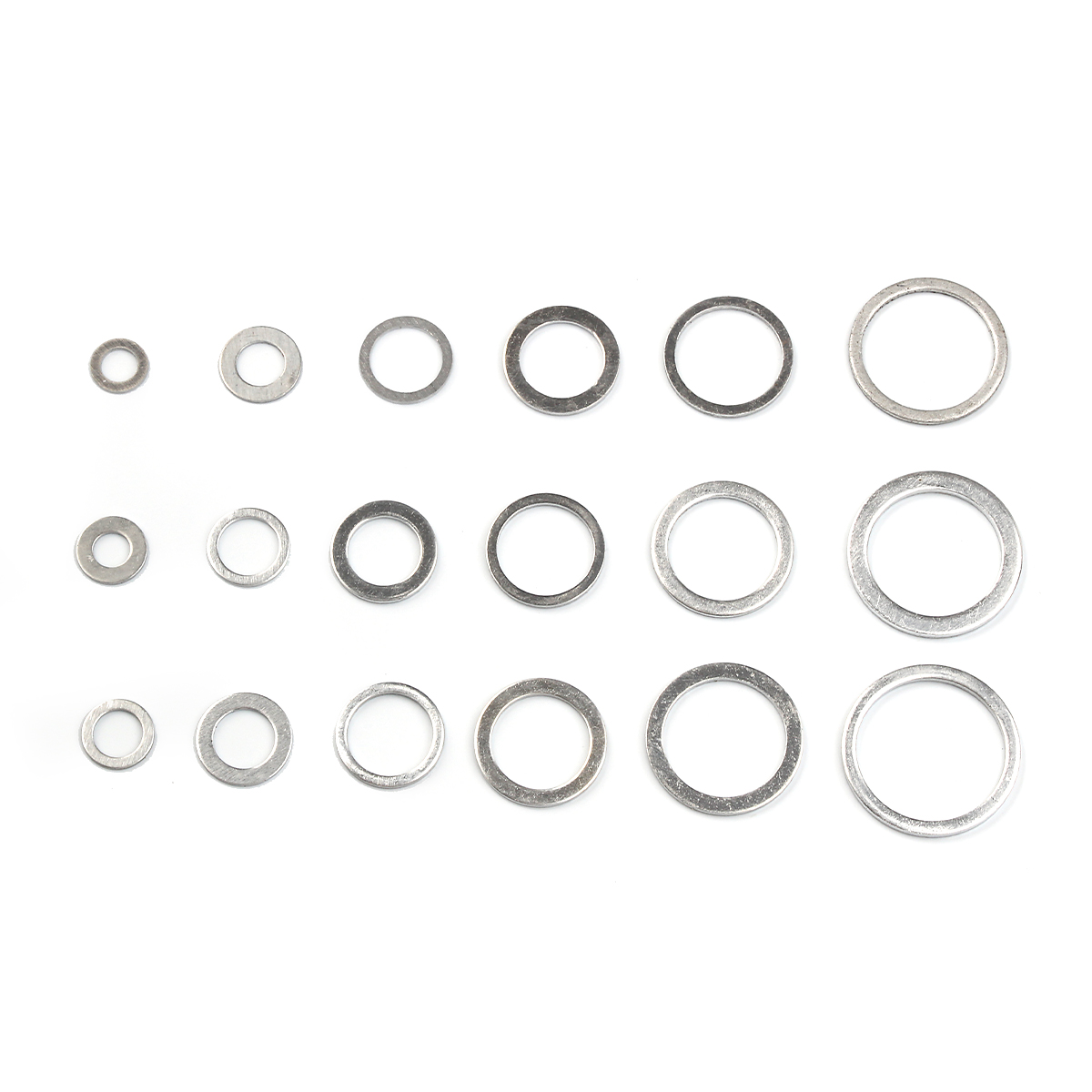 Image 3 - 450Pcs Gaskets Washers Gasket Aluminum Flat Metal Washer Gasket Assorted Aluminum Sealing Rings set With Box-in Washers from Home Improvement