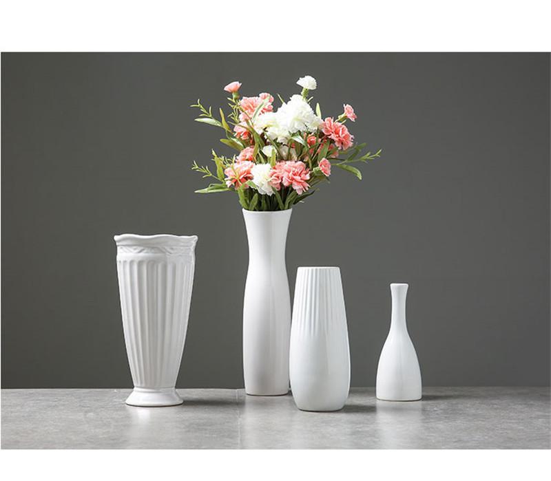 Classic Handmade White Ceramic Flower Vase For the Home