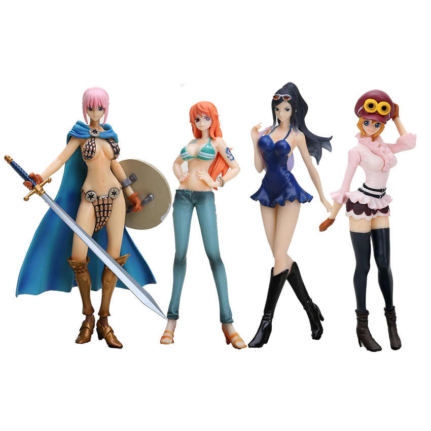 "7 ""17 CENTÍMETROS Anime One Piece Dead or Alive Koala Nico Nami PVC Action Figure Modelo Coleção Toy"