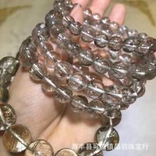 Genuine Natural Silver Rutilated Quartz Crystal Round Beads Bracelets Brazil Women Man 7mm 8mm 9mm 10mm 12mm 14mm 15mm AAAAA