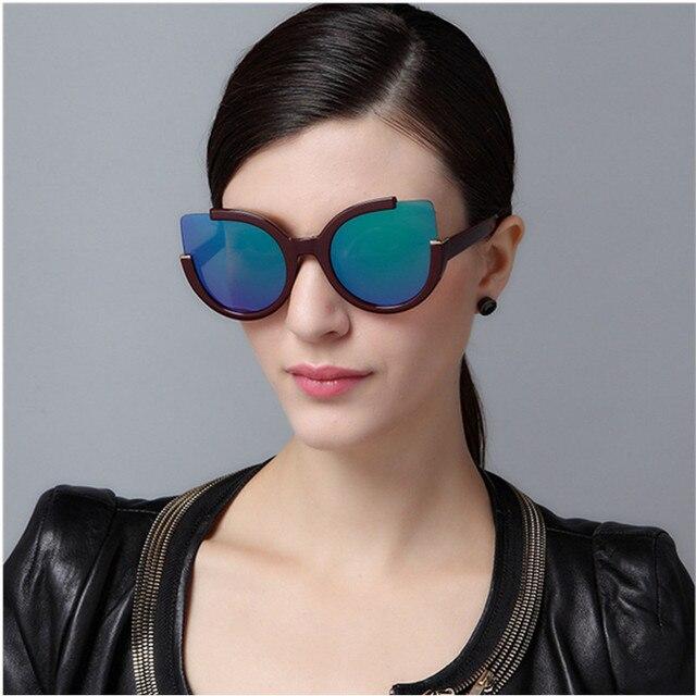 NYWOOH Vintage Sunglasses Women Cat Eye Sun Glasses Womens Brand Designer Mirror Eyewear Ladies Round Frames Eyeglasses UV400 5