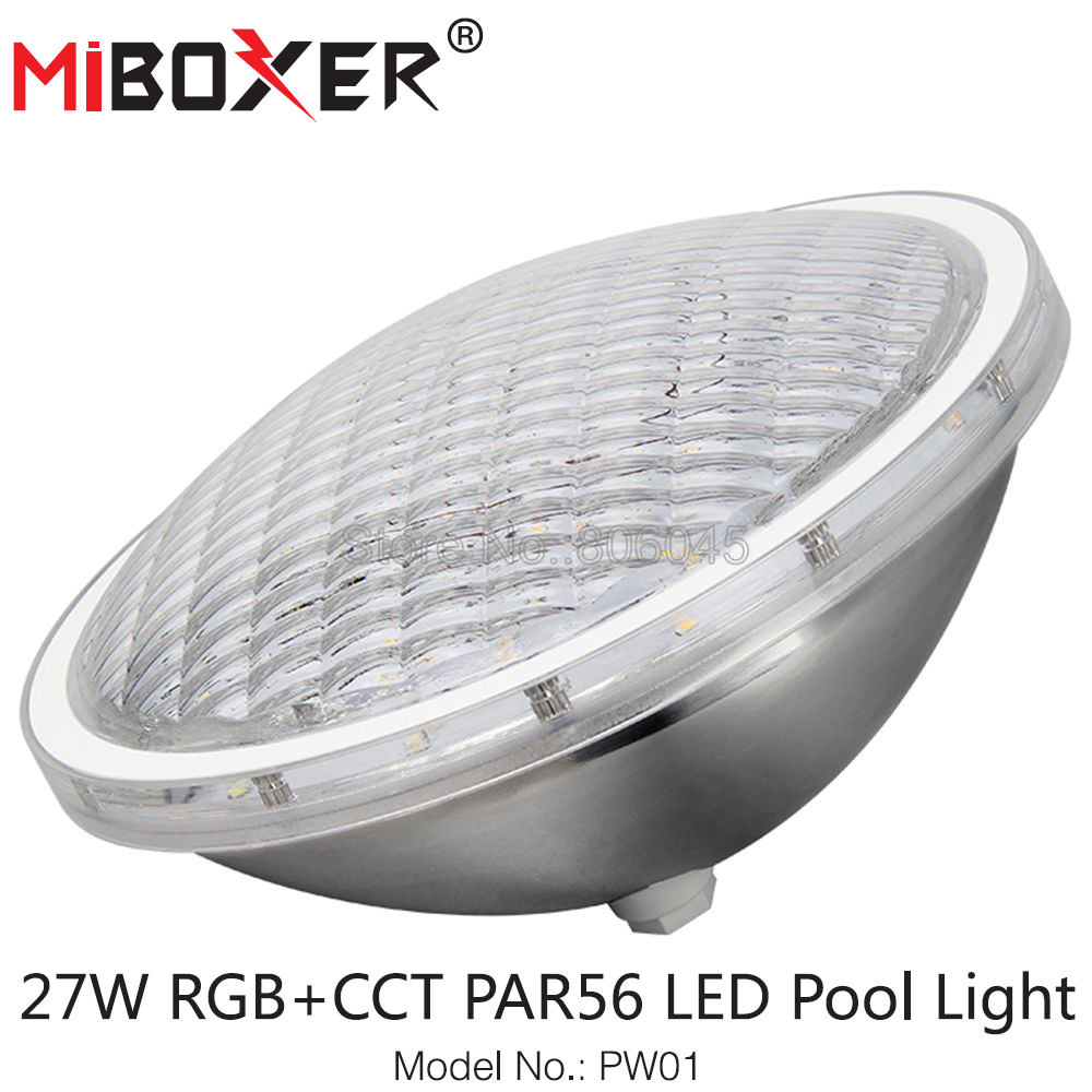 Miboxer PW01 27W RGB+CCT PAR56 LED Pool Light IP68 Waterproof Smart LED Light 433MHz Remote & APP Alexa Google Voice Control