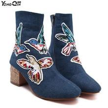 Новые модные ковбойские Для женщин Ботинки Для женщин Зимняя обувь на высоком каблуке Обувь Нескользящие сырой ботинки Martin