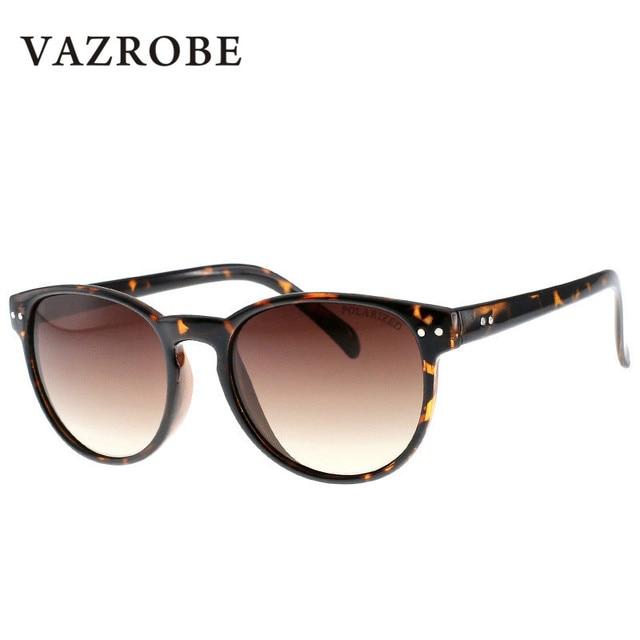 Vazrobe Redonda Pequena Mulher Polarizada Óculos De Sol Dos Homens Óculos de  Sol Do Círculo Do 1c12c1f8b6