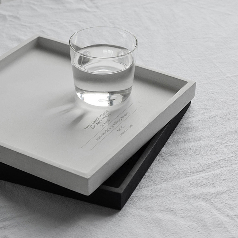 Square Shape Concrete Tray Pallet Silicone Mold Candlestick Clay Crafts Mould Cement Flowerpot Pedestal Base Tray Molds
