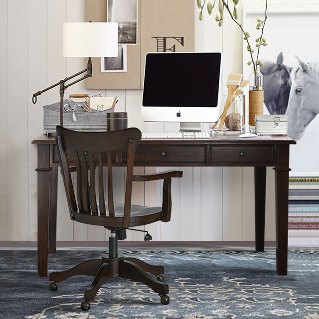 Office Furniture Houston Tx Painting: American Rural Retro To Do The Old Wood Desk Study