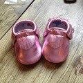 Bebê de couro genuíno mocassins borla EP sapatos fechados sapatos de bebê Primeiros Caminhantes meninas sapatos Infantil bebe Sapatos frete grátis