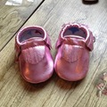 Genuine leather baby moccasins tassel EP baby shoes indoor First Walkers girls shoes Infant bebe Shoes free shipping