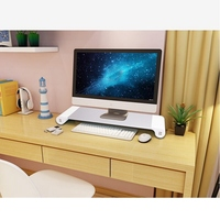 New UK/EU Plug Notebook Stand Aluminium Laptop Stand Holder Computer Monitor TV Stand USB Charger Entertainment Center Storage