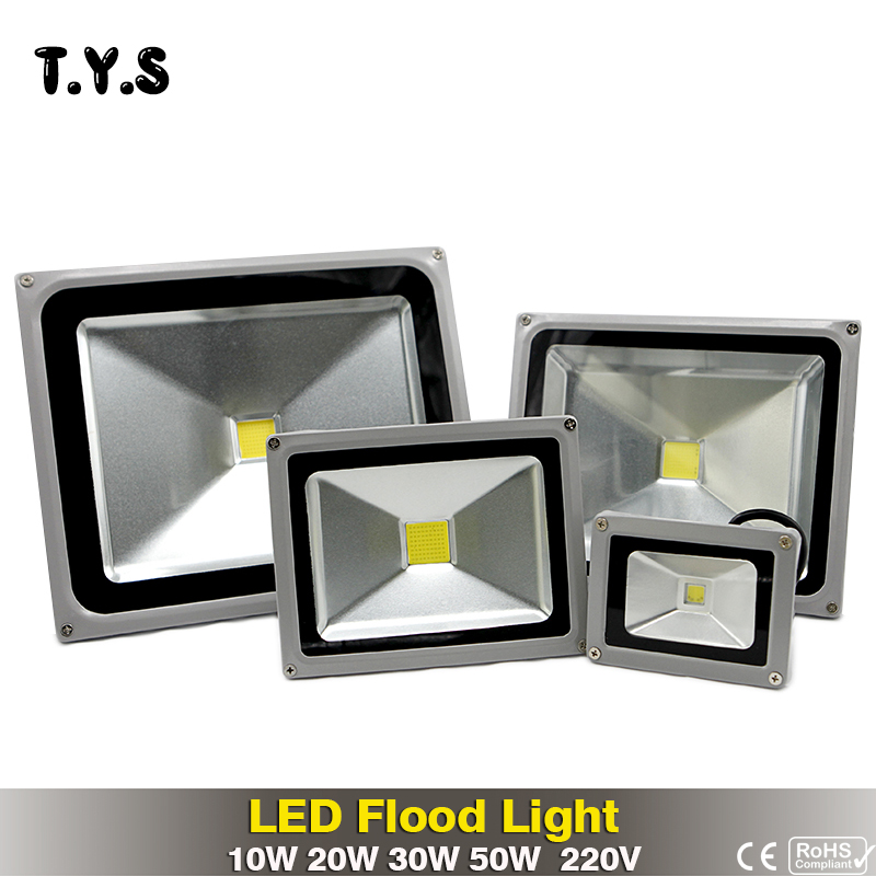 Waterproof floodlight Outdoor LED projector 50W 30W 20W 10W outdoor led flood light IP65 focos led spot 220v exterior Spotlight