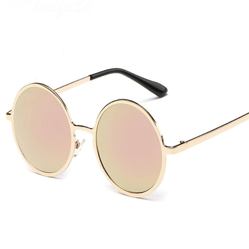 Nuevo metal redondo mujeres y hombres Gafas de sol diseño de marca COLOR  lente UV400 polarizado Sol Gafas círculo gafas lunetas oculos de sol 35d94ecbdb