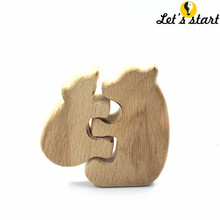 free shipping!Set of 5pcs organic beech wood crafts koala Mother and child,KoalaTea for baby boy gift  Chew toys,for decoration