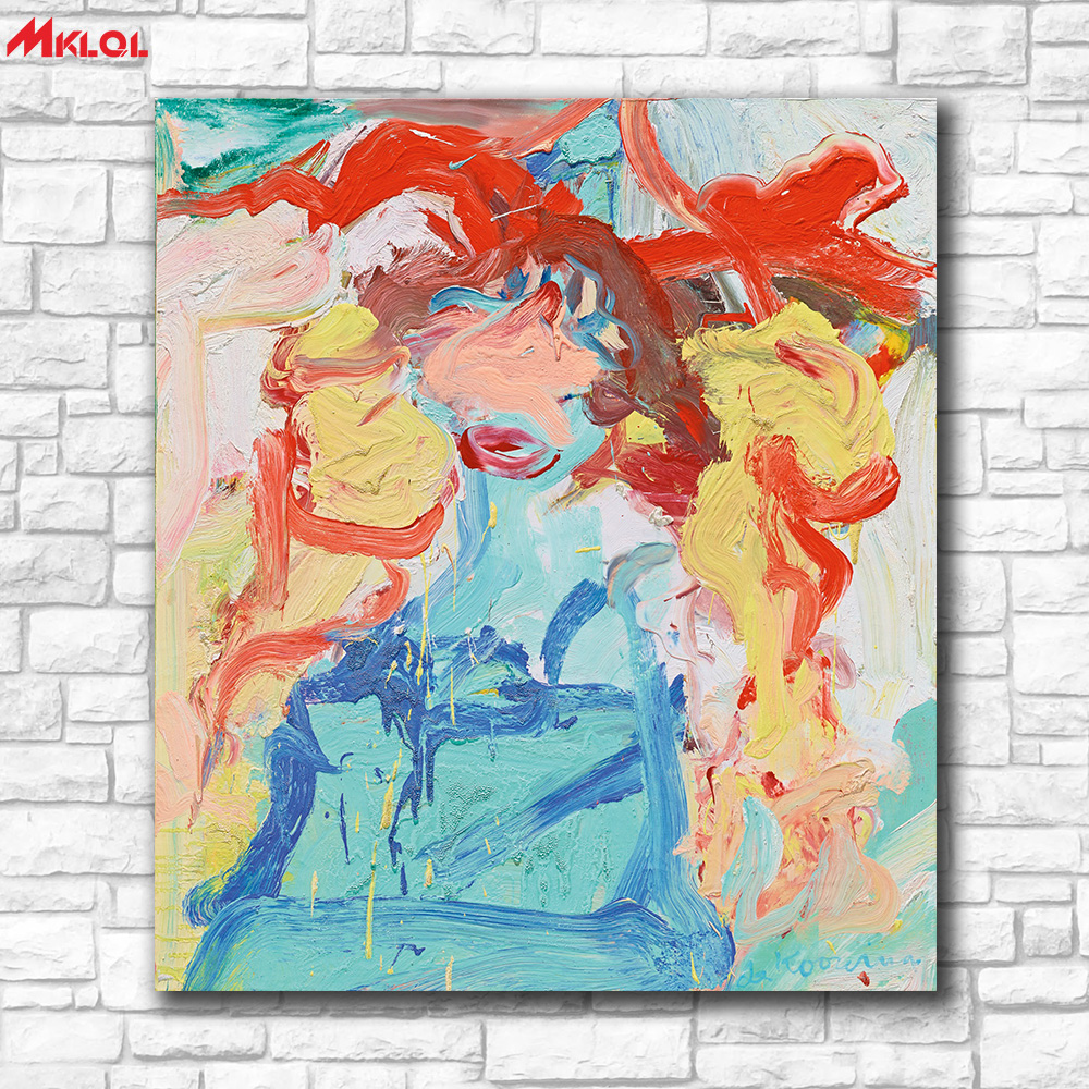 Large Size oil painting WOMAN by willem de kooning Wall Art Paintings  Picture Paiting Canvas Paints Home Decor Print Painting-in Painting &  Calligraphy from ...