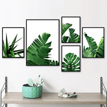 Fresh Palm Leaf Monstera Banana Tree Wall Art Canvas Painting Nordic Posters And Prints Pictures For Living Room Decor