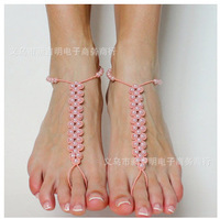 Designer Bohemia anklet chain Barefoot Sandals,Bridal Jewelry,Beach,Foot Jewellery,Round Pearl girl's ift