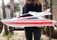 Large RC SpeedBoat Atlantic Yacht Luxury Cruises racing boat high speed ship Electronic Toys For Children Gifts