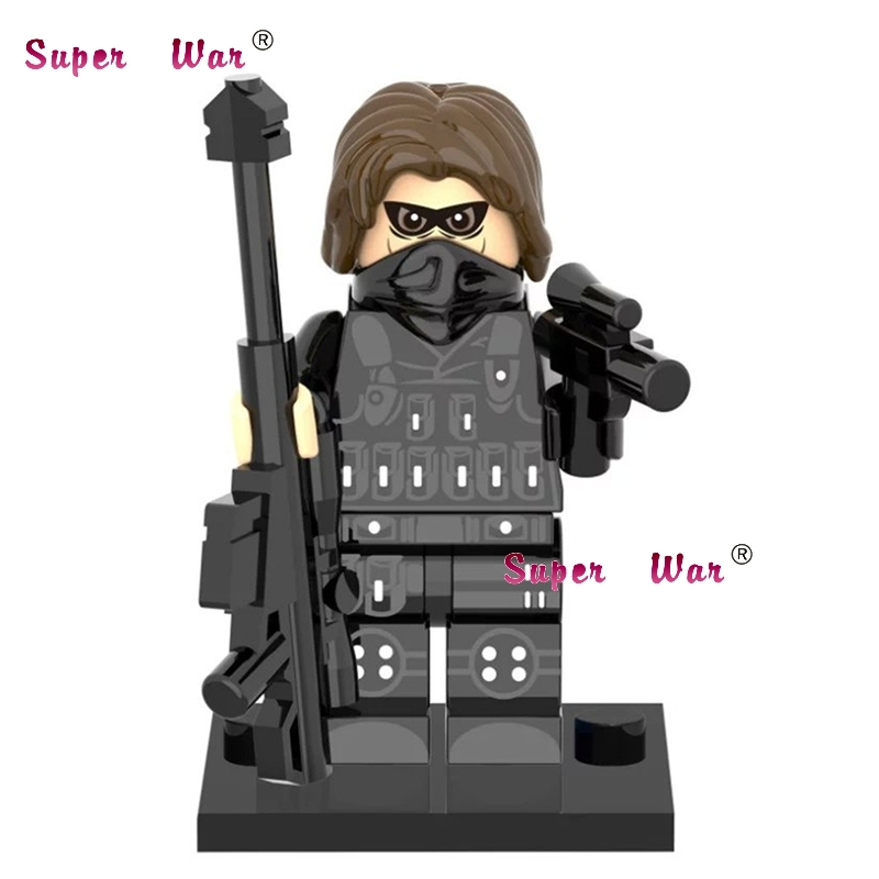 1PCS superhero marvel avengers Winter Soldier SDCC font b building b font blocks action sets font