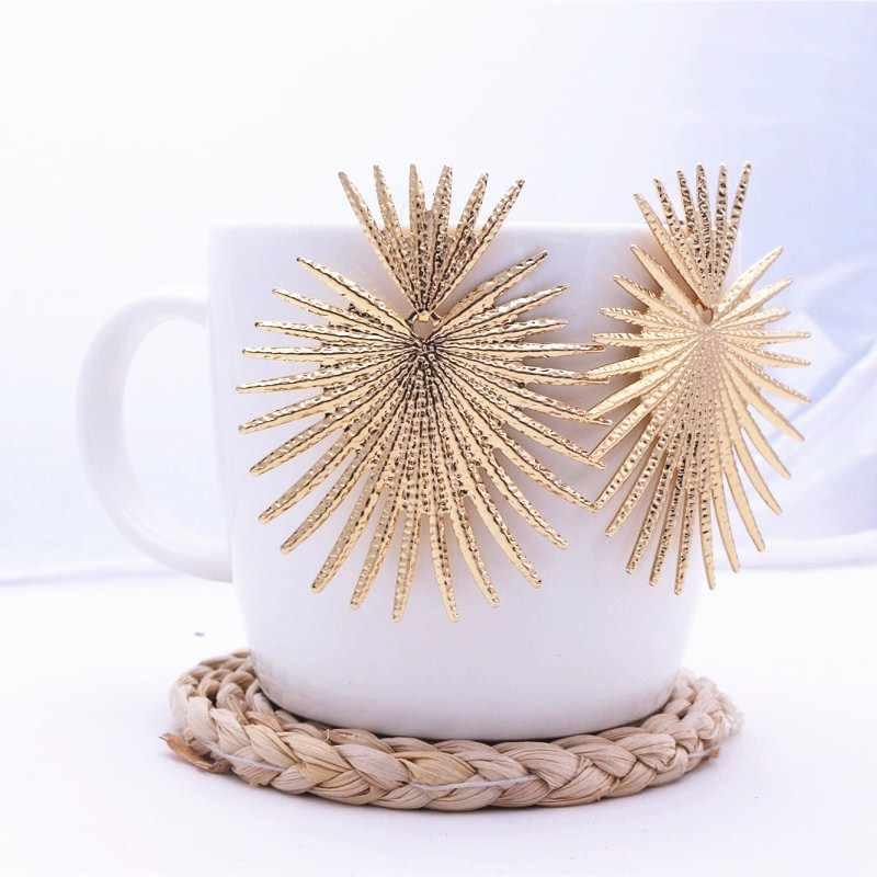 2020 nuevos pendientes colgantes irregulares geométricos para mujeres personalidad exagerada Metal dorado pendientes de fiesta pendientes Oorbellen sutd