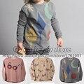 Nueva Bobo Choses Gafas Conejo Mágico Polvos T-shirt 2016 Otoño Otoño invierno de Los Niños de Manga Larga Camisetas Niños Niñas Bebé Tes de Las Tapas