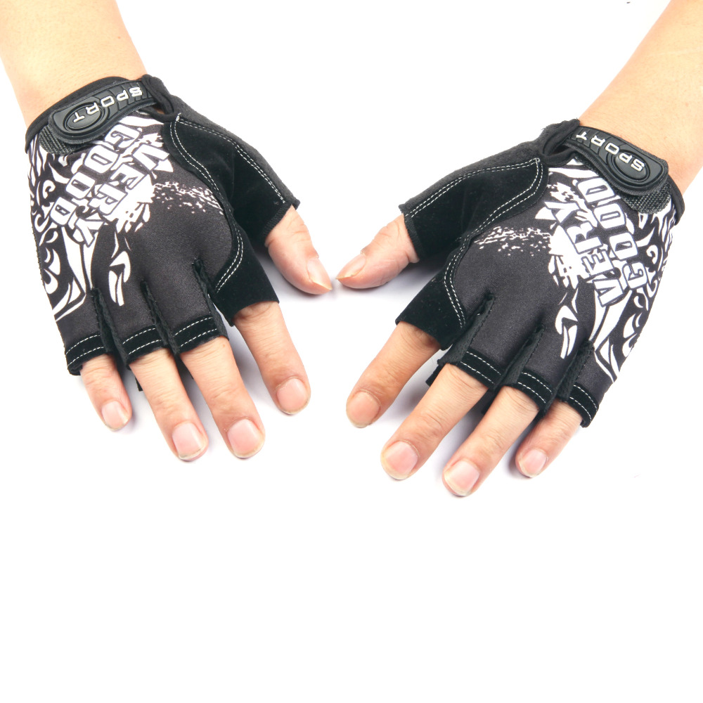 QXY ledové hedvábí protáhnout tenké prodyšné cyklistické poloprsté rukavice muži ženy sportovní fitness taktické krémové poloprsté rukavice