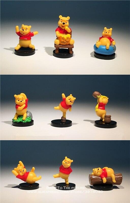 Disney Winnie l'ourson 4-5cm 9 pièces/ensemble Figurine d'action Posture Anime décoration Collection Figurine jouet modèle pour enfants cadeau