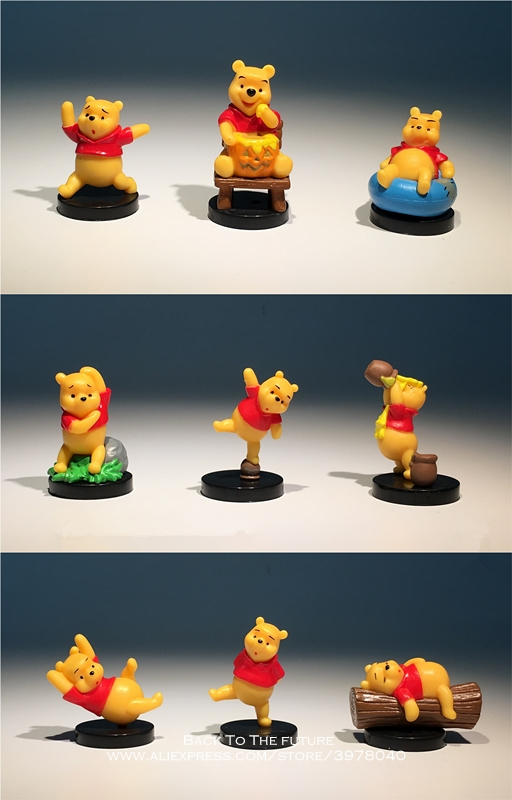 Disney Winnie the Pooh 4-5cm 9pcs/set Action Figure Posture Anime Decoration Collection Figurine Toy model for children gift 15 5cm anime figure lilo