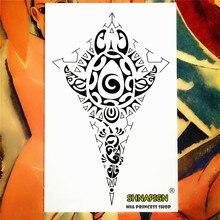 Indian Tribal Totem Temporary Tattoo Body Art Sleeve Arm Flash Tattoo Stickers 12x20cm Painless Henna Selfie Tao Tattoo Stickers
