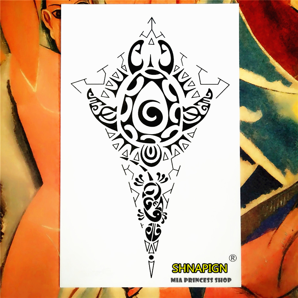 Indian Tribal Totem Temporary Tattoo Body Art Sleeve Arm Flash Tattoo Stickers 12*20cm painless Henna selfie Tao tattoo stickers