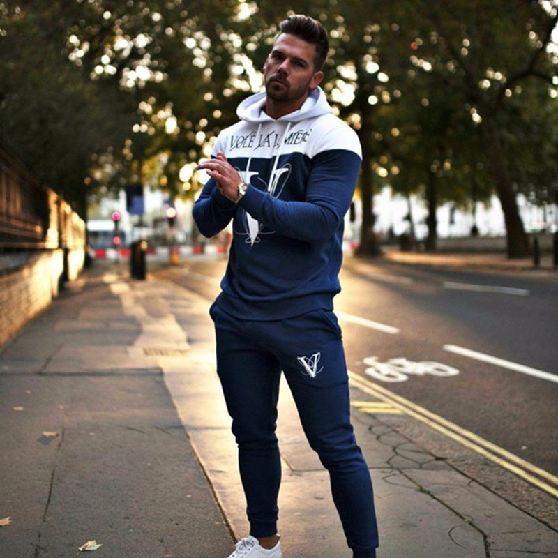 Suit Sport Clothing Set Running Jogger Tracksuit (1)