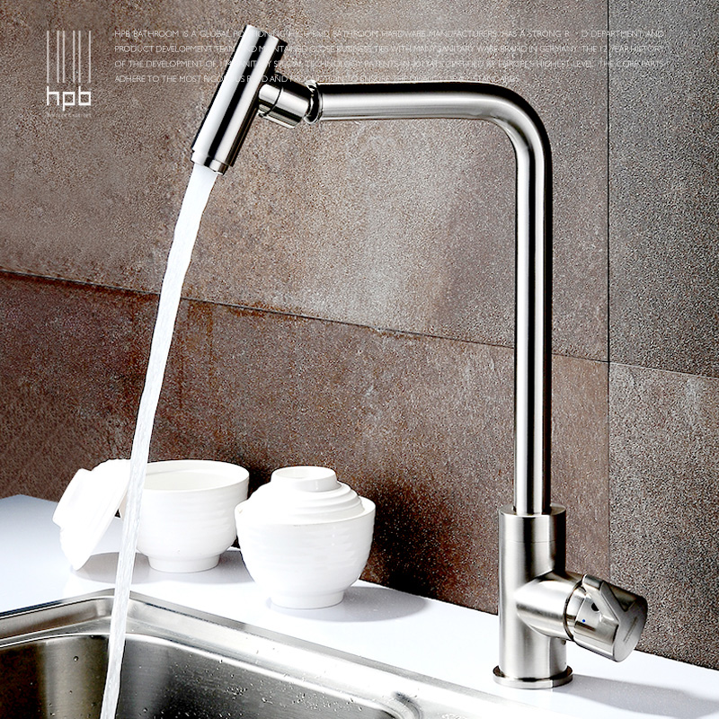 full copper lead free kitchen faucet hot and cold drawing wash dishes basin water sink