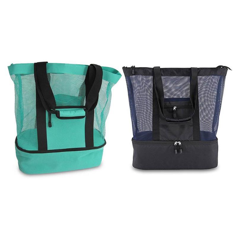 Изолированная крутая сумка для обедов, женская сумка, многофункциональная изоляционная упаковка, переносная сумка для ланча, сетчатая Терм..., Спорт и отдых